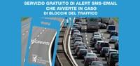 Blocchi del traffico, al via il servizio gratuito di Alert SMS (o email) che avverte i cittadini