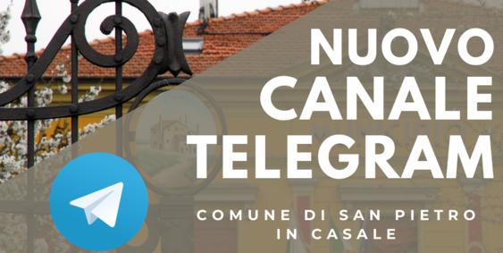 Il Comune di San Pietro in Casale su Telegram