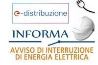 Interruzione energia elettrica sabato 13 marzo 2021