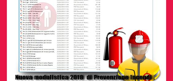 Nuova modulistica di prevenzione incendi