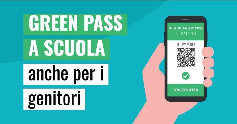 Obbligo di green pass per entrare nelle strutture scolastiche